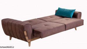 همونطور که در تصویر بالا میبیند مبل تخت خواب شو رو میبینم