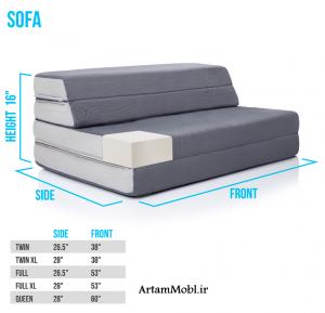 مبل های تختخواب شونده بیشترین میزان کارایی در خانه را دارند.