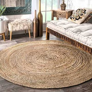 فرش گرد برای مبلمان راحتی