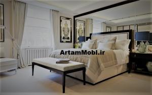 اتاق خواب با دکور سفید